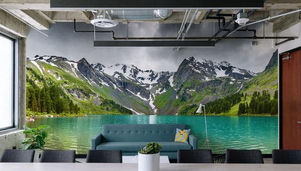 altai mountain lake nature wallpaper earth wall murals
