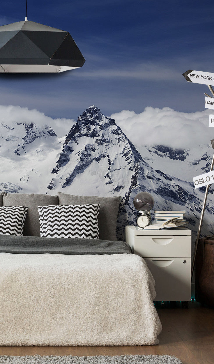 Panorama of Caucasus Mountains Wall Mural