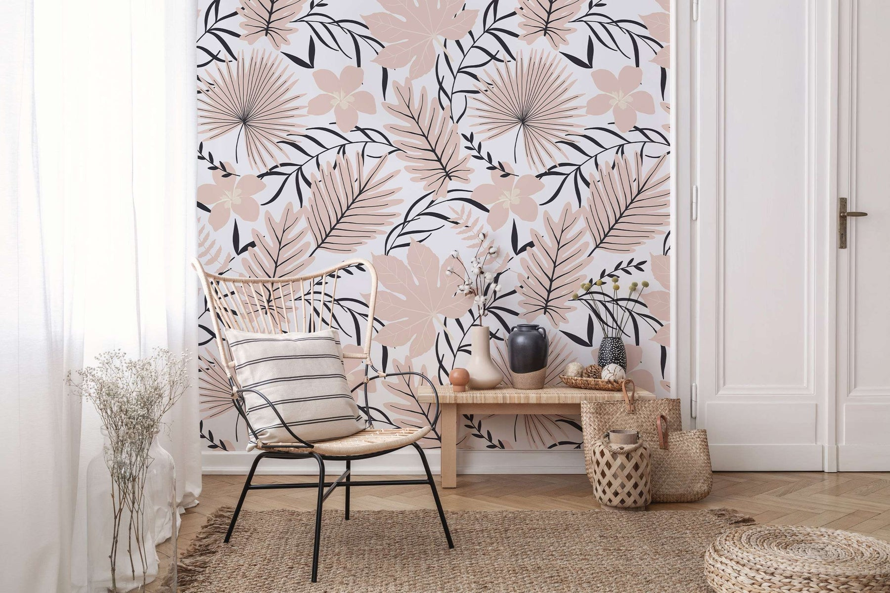 natural tropical removable wallpaper