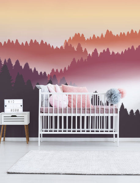 murals for children forest wallpaper kids eazywallz