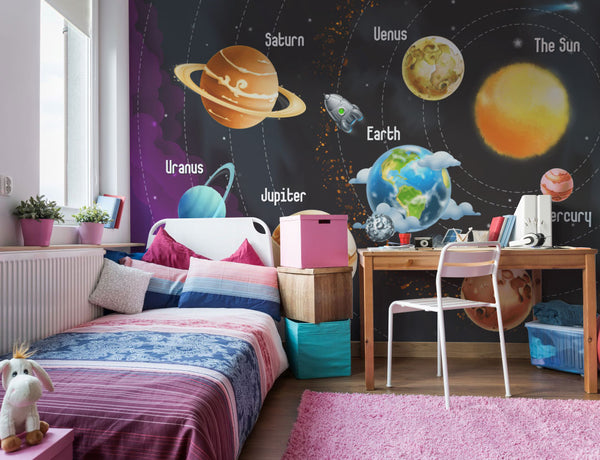 space wall murals kids wallpaper for childrens