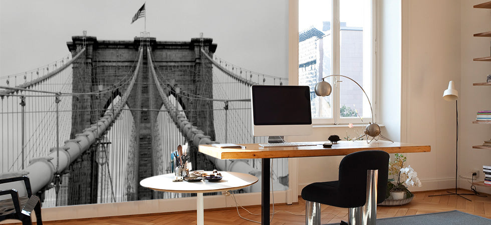 Astonishing Home Office Wall Murals Eazywallz Largest Home Design Picture Inspirations Pitcheantrous