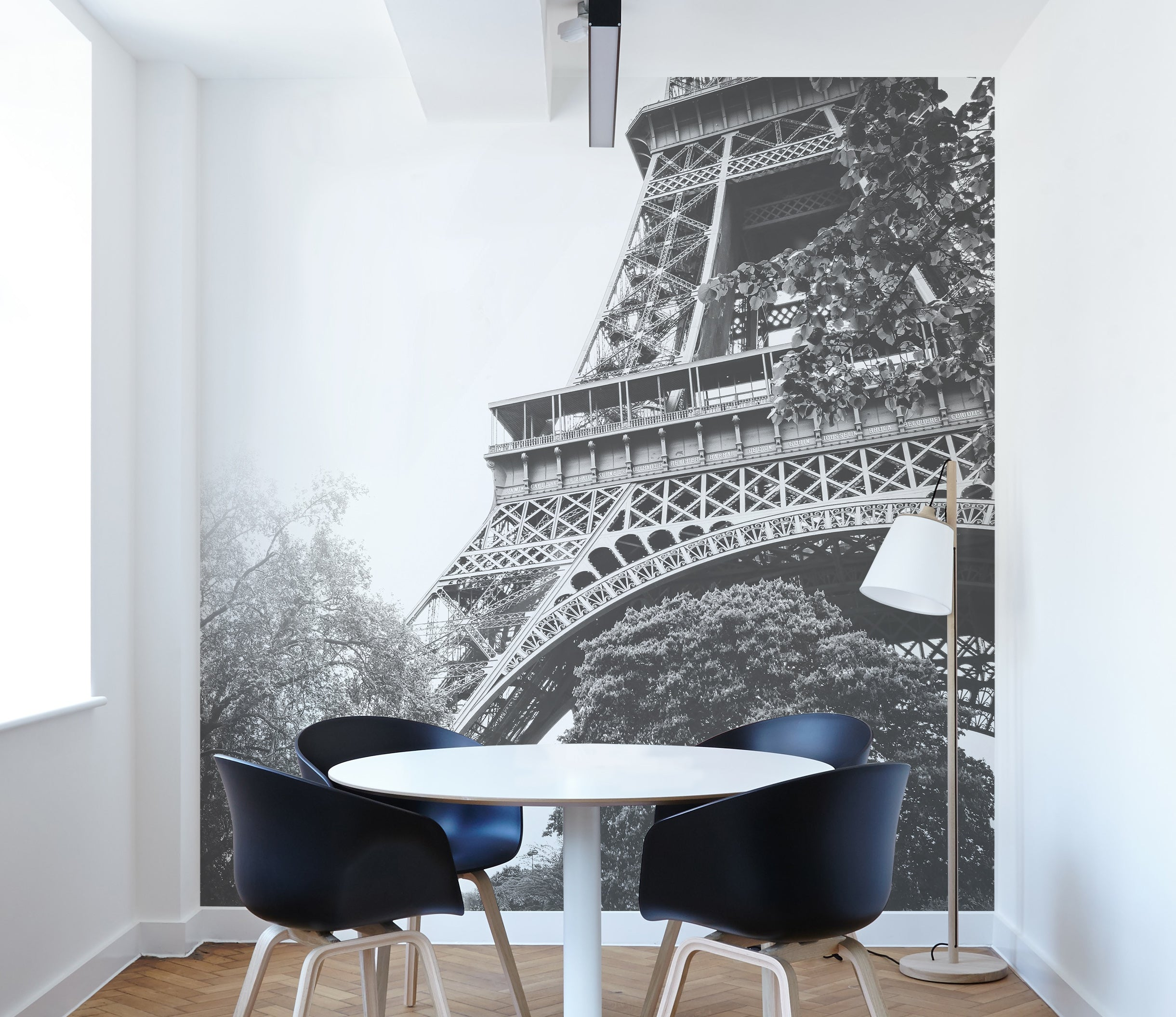 black and white paris wall mural home decor