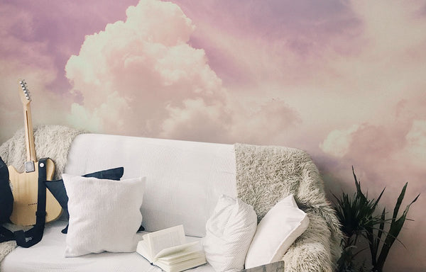 pink clouds and skies wall murals earth day nature wallpaper