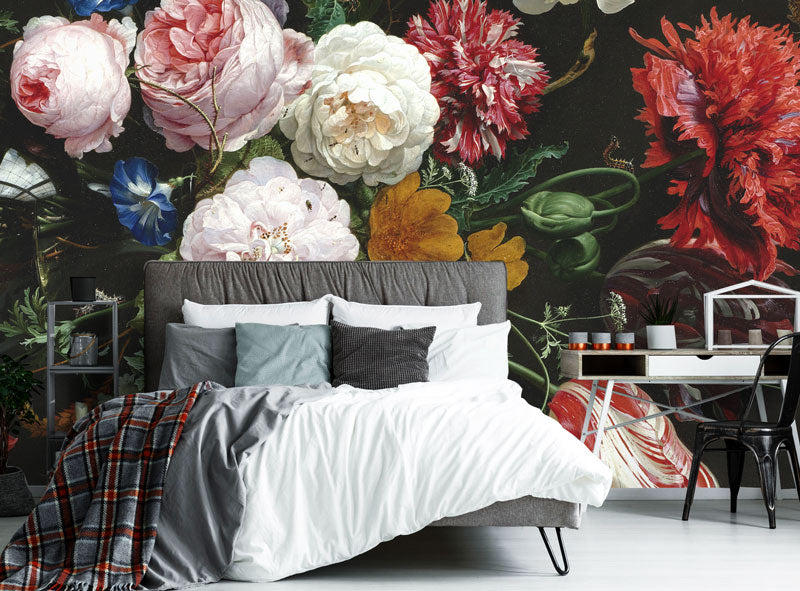 floral removable wallpaper and wall murals eazywallz