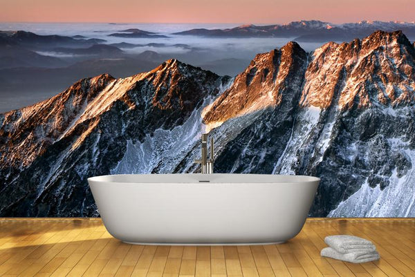 Sunrise in mountains Wall Mural