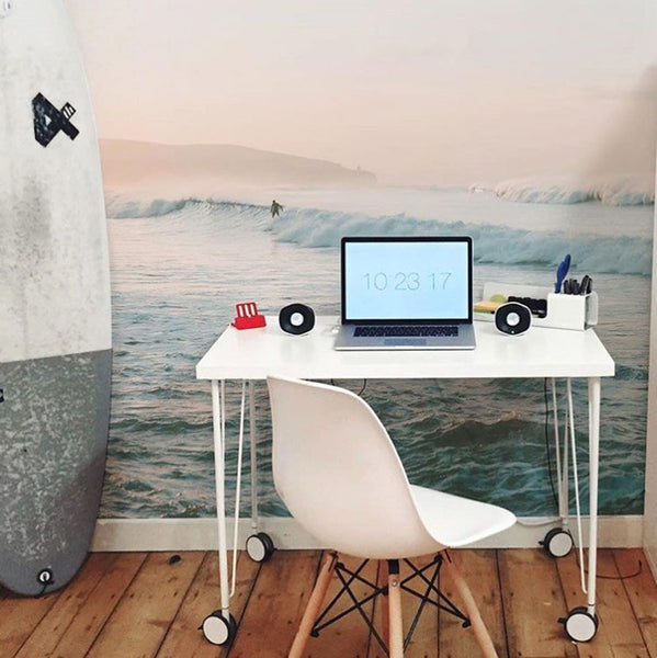 surf wave wall mural for your home