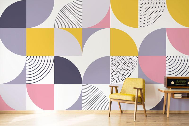 geometric wallpaper pattern wall murals easywalls eazywallz