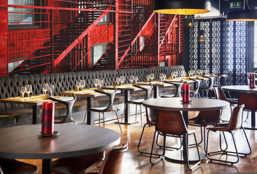 Wall murals for hotels wall murals for restaurants for Cafe wall mural