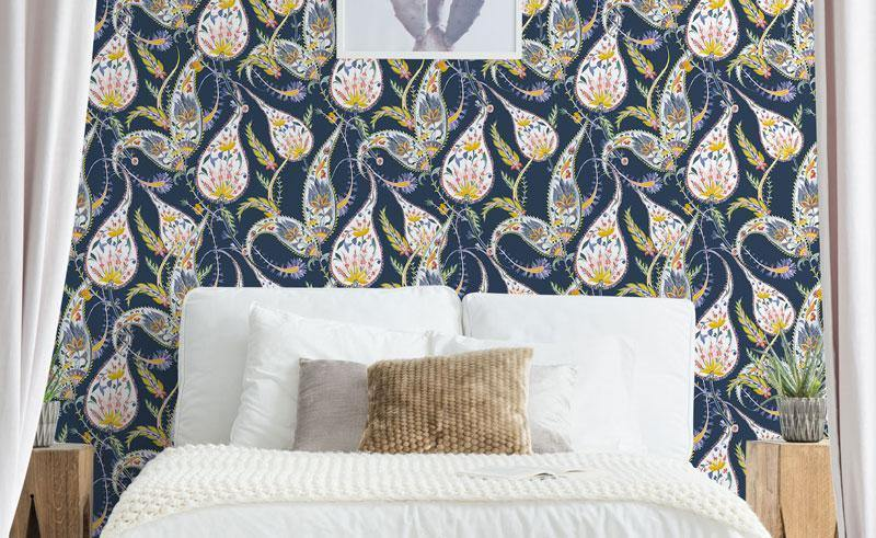 paisley removable wallpaper
