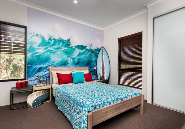 wave wall mural eayzwallz surf bedroom wall decor wallpaper ocean