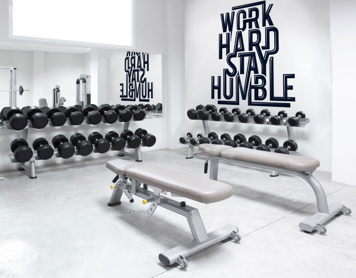 Motivational wall murals for your gym eazywallz