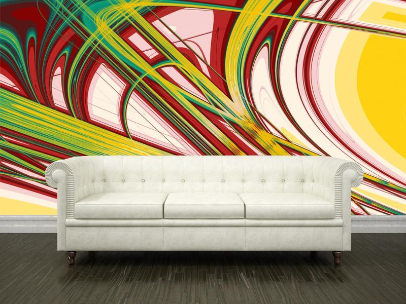 Abstract Curves Wall Mural-Abstract-Eazywallz