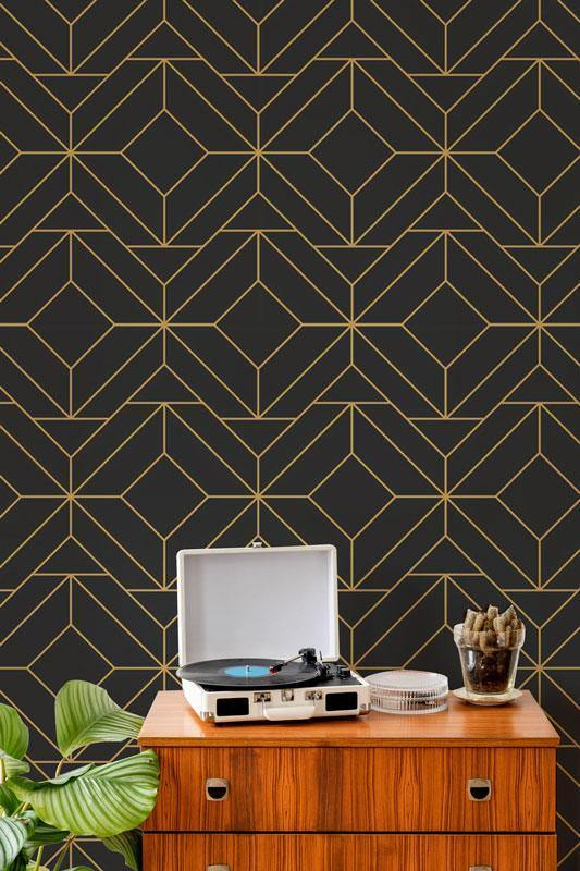 Art Deco 5 Removable Wallpaper-wallpaper-Eazywallz