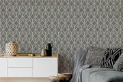 Art Deco Ink Removable Wallpaper-wallpaper-Eazywallz