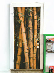 Bamboo Stalks Door Mural-Landscapes & Nature-Eazywallz
