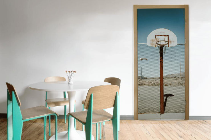 Basketball Net Door Mural-Door Mural-Eazywallz