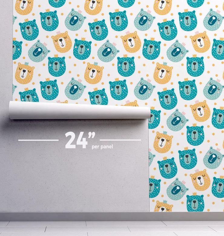 Bear Smiles Removable Wallpaper-wallpaper-Eazywallz