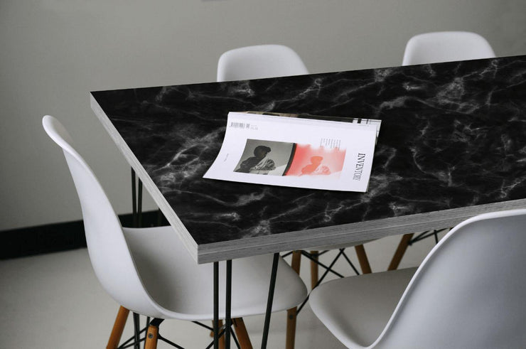 Black Marble Table Skin-Table Top Wrap-Eazywallz