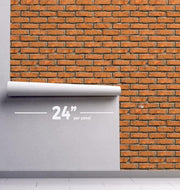 Brown Brick Removable Wallpaper-Wall Mural-Eazywallz