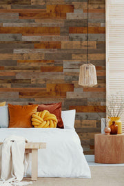Cherry Dark Reclaimed Wood Removable Wallpaper-wallpaper-Eazywallz