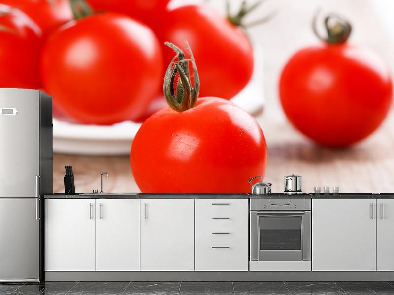 Cherry tomatoes Wall Mural-Food & Drink-Eazywallz