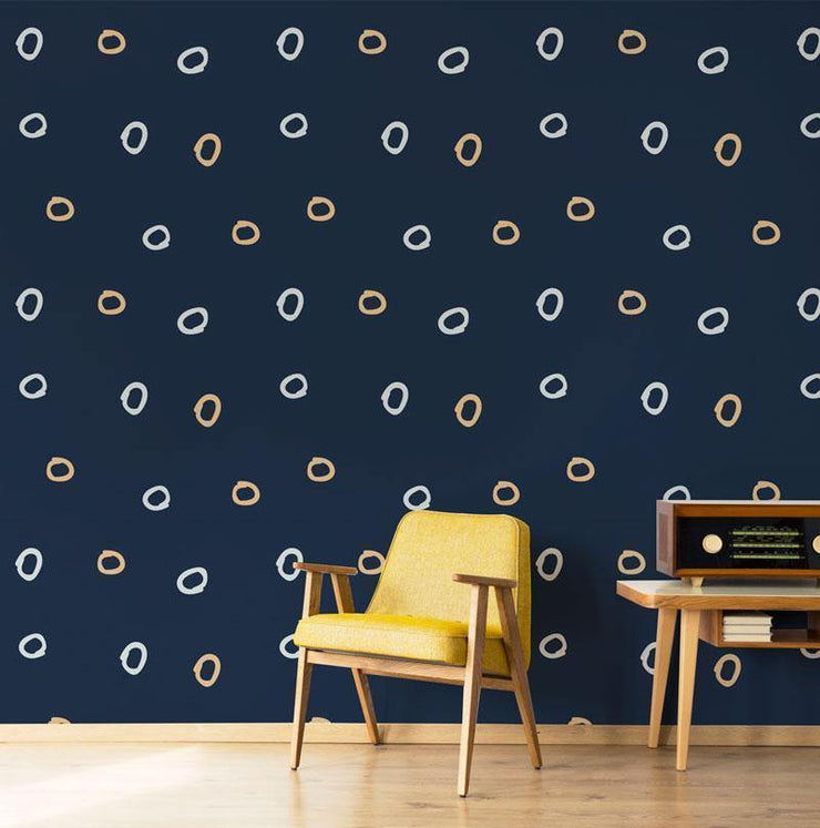 Circle Doodle Removable Wallpaper-wallpaper-Eazywallz