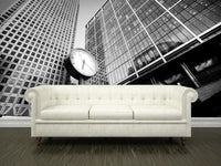 City finance Building with clock Wall Mural-Buildings & Landmarks-Eazywallz