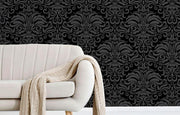Dark Damask Removable Wallpaper-wallpaper-Eazywallz