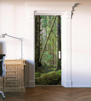 Deep Forest Green Moss Door Mural-Door Mural-Eazywallz