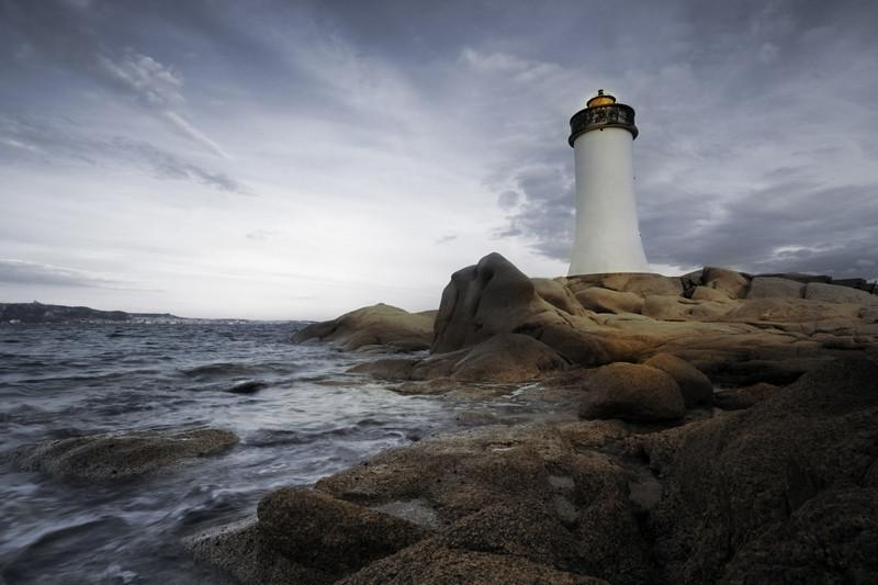 Dramatic lighthouse, USA Wall Mural-Buildings & Landmarks,Landscapes & Nature-Eazywallz
