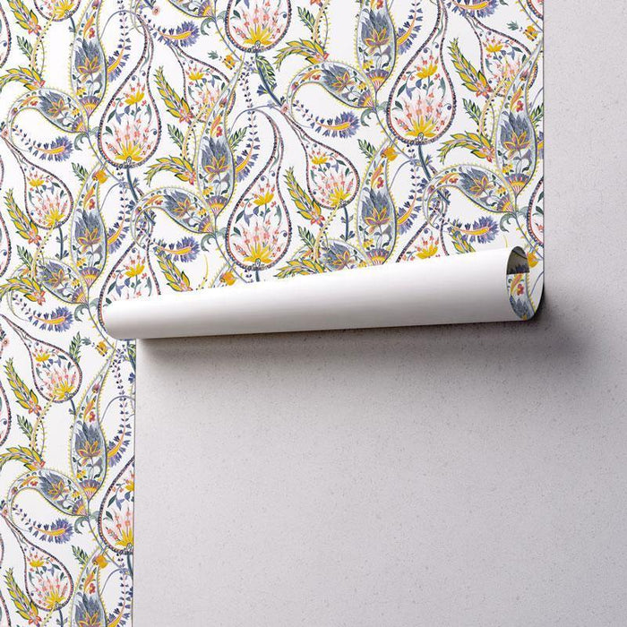 Elegant Paisley Removable Wallpaper-wallpaper-Eazywallz