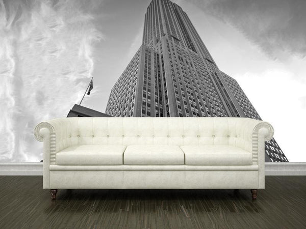 Empire state building usa wall mural eazywallz for Empire state building wall mural