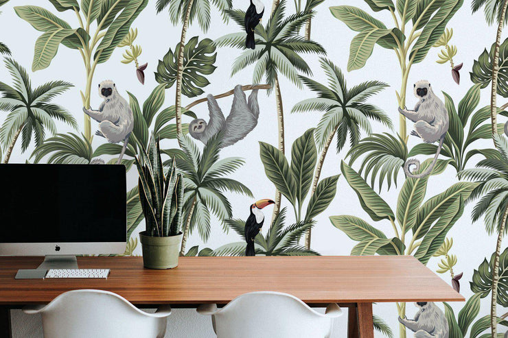 Exotic Jungle Animal Removable Wallpaper-wallpaper-Eazywallz