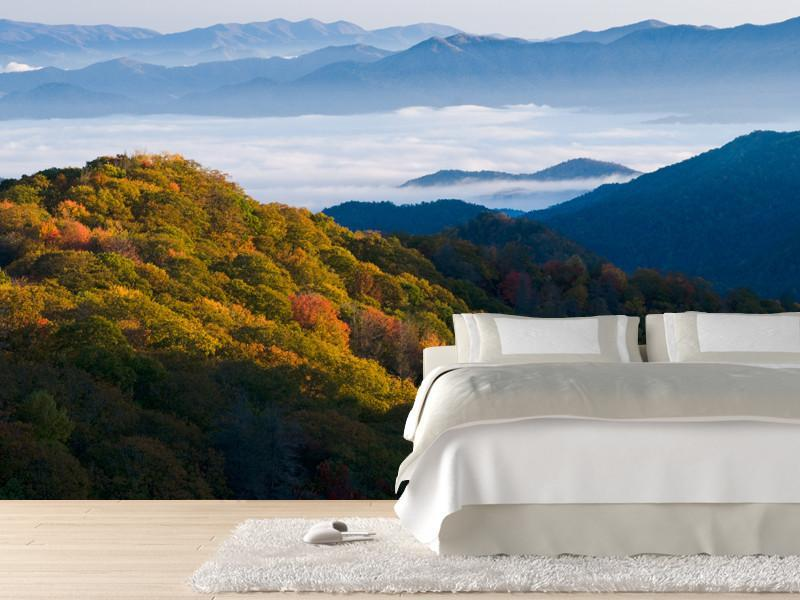 Fall colors in the Mountains Wall Mural-Landscapes & Nature-Eazywallz
