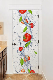 Fresh Strawberries Door Mural-Door Mural-Eazywallz