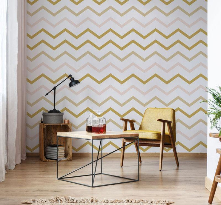 Geometric Zags Removable Wallpaper-wallpaper-Eazywallz