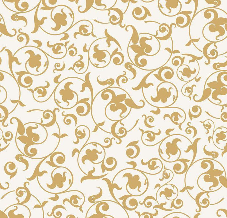 Golden Baroque Removable Wallpaper-wallpaper-Eazywallz