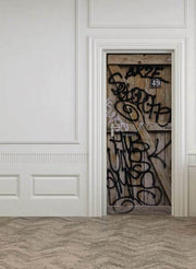 Grunge Graffiti Door Mural-Landscapes & Nature-Eazywallz