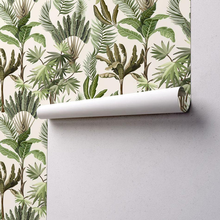Illustrated Exotic Jungle Removable Wallpaper-wallpaper-Eazywallz