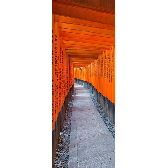 Japanese Torii Gate Door Mural-Landscapes & Nature-Eazywallz