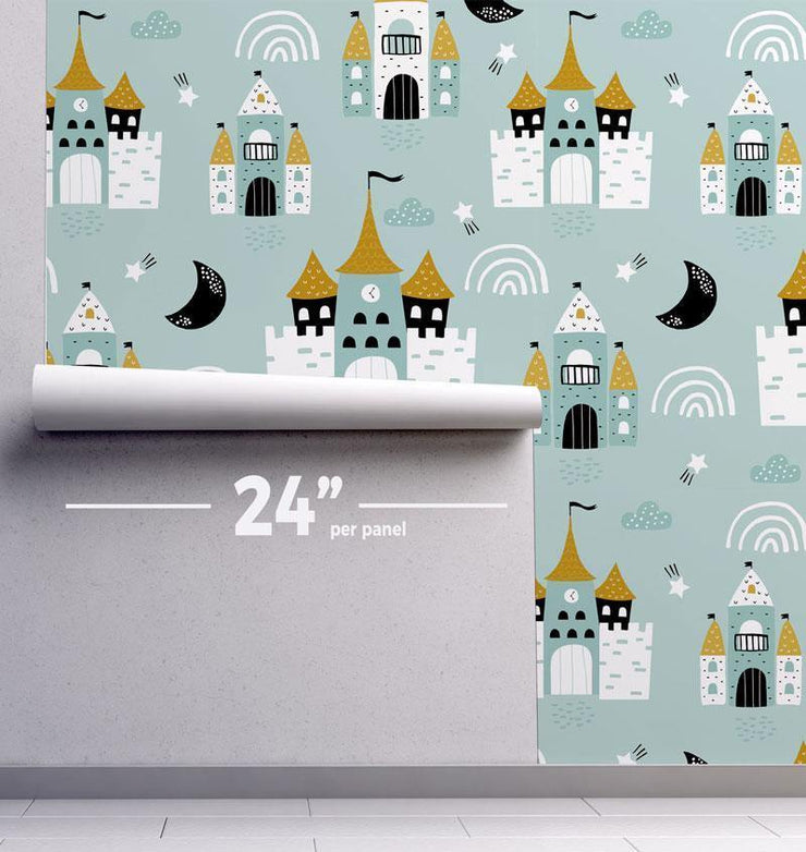 Kid's Castles Removable Wallpaper-wallpaper-Eazywallz