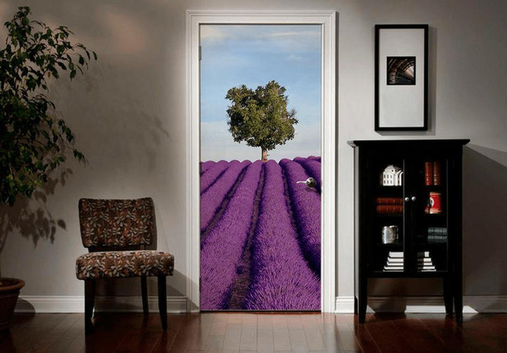Lavender Field in France Door Mural-Door Mural-Eazywallz
