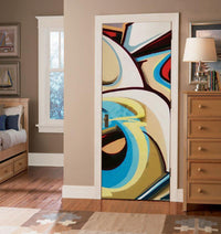 Light Graffiti Art Door Mural-Urban-Eazywallz