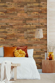 Light Reclaimed Wood Removable Wallpaper-wallpaper-Eazywallz