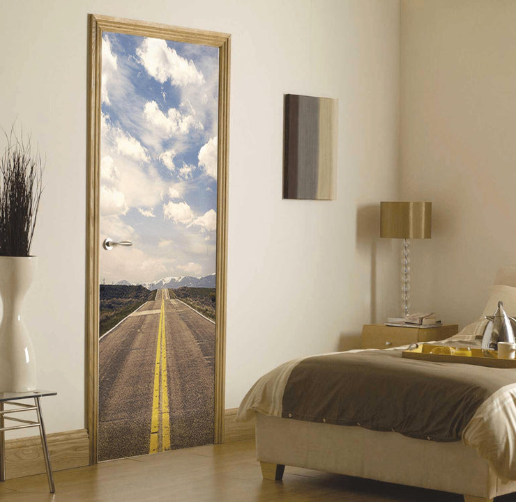 Long Mountain Road Door Mural-Door Mural-Eazywallz