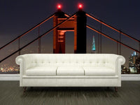 Main tower of the Golden Gate Bridge, USA Wall Mural-Buildings & Landmarks,Cityscapes-Eazywallz