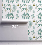 Minimal Botany Removable Wallpaper-wallpaper-Eazywallz