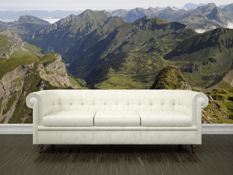 Mountains in Switzerland Wall Mural-Landscapes & Nature-Eazywallz