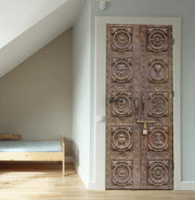 Nepal Wood Carved Door Mural-Door Mural-Eazywallz